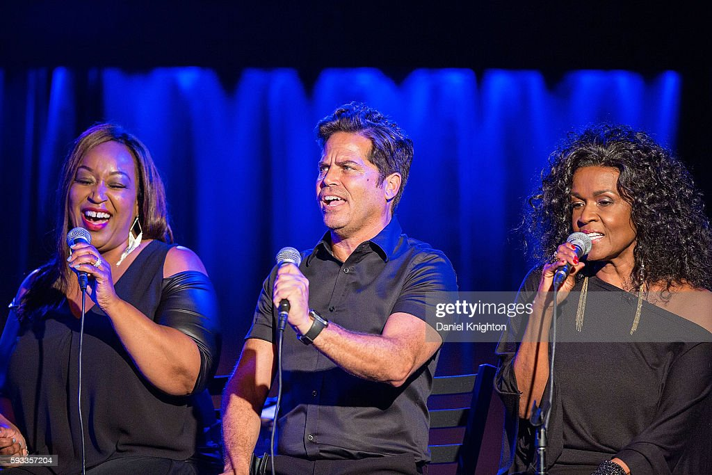 Vocalists Donna Taylor, John Pagano, and Josie James of Burt Bacharach perform on stage at Belly Up Tavern on August 21, 2016 in Solana Beach, California.