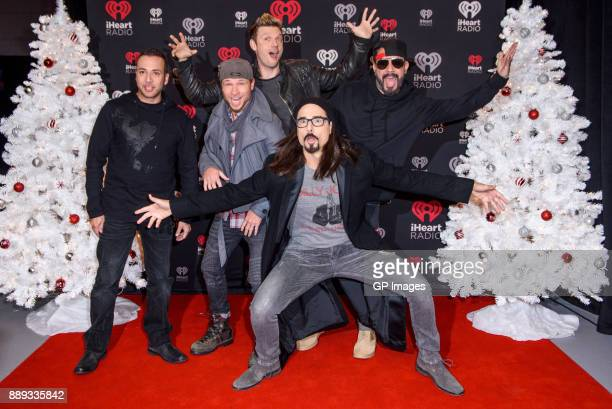 Vocalists Howie Dorough Brian Littrell Nick Carter AJ McLean and Kevin Richardson of the Backstreet Boys attend the 2017 iHeartRadio Canada Jingle...