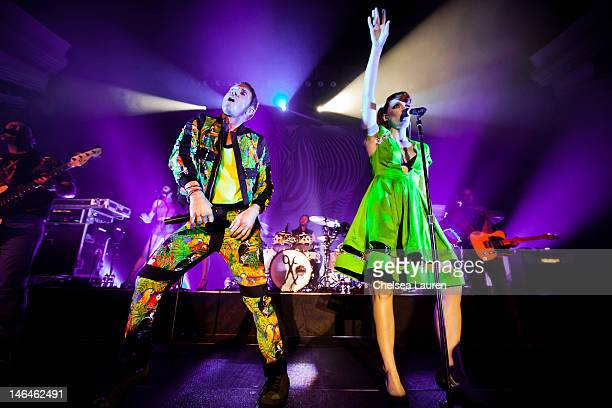 Vocalists Jake Shears and Ana Matronic of Scissor Sisters perform at Hollywood Palladium on June 16 2012 in Hollywood California