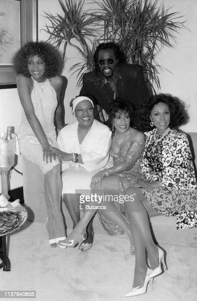 Vocalists Left To RightWhitney Houston Roberta Flack Nickolas Ashford and Valerie Simpson of Ashford and Simpson Diahann Carroll pose for a photo on...