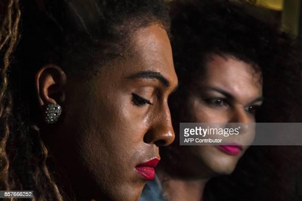 Vocalists of the Brazilian Band As Bahias e a Cozinha Mineira Raquel Virginia and Assucena Assucena pose for a picture after an exclusive interview...