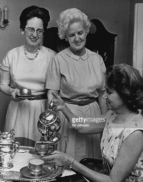 JUL 28 1964 JUL 29 1964 Vocations Topic at Coffee L R Mrs T Raber Taylor Mrs Paul V Murray Mrs Gerald McAuliffe