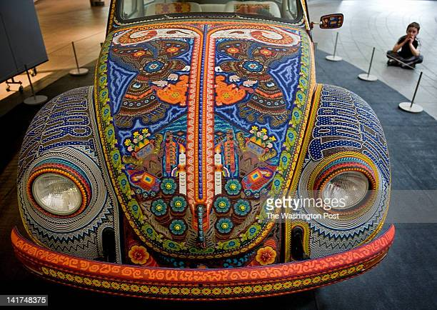 Vochol, a dramatic piece of beaded art from the Huichol communities of Nayarit and Jalisco, Mexico, is installed at SmithsonianÕs National Museum of...
