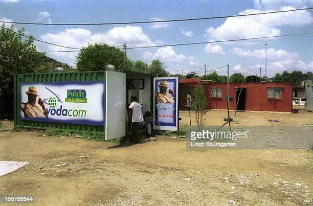 Vodacom container at Oukasie