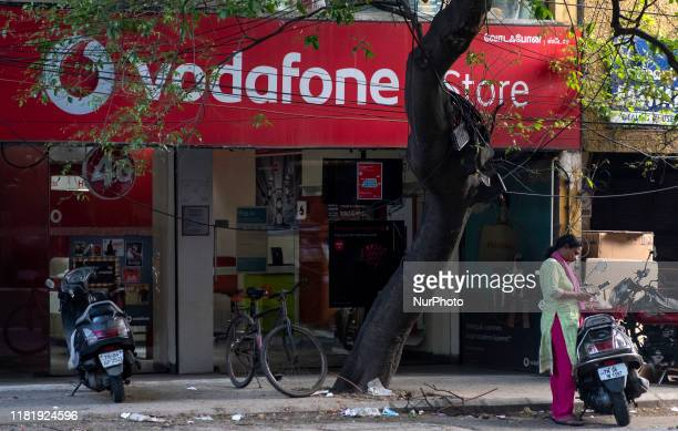 Vodafon store in Chennai, India on 12th Nov 2019. Vodafone CEO Nick Read said Vodafone India's future is very critical in upcoming days as they are...
