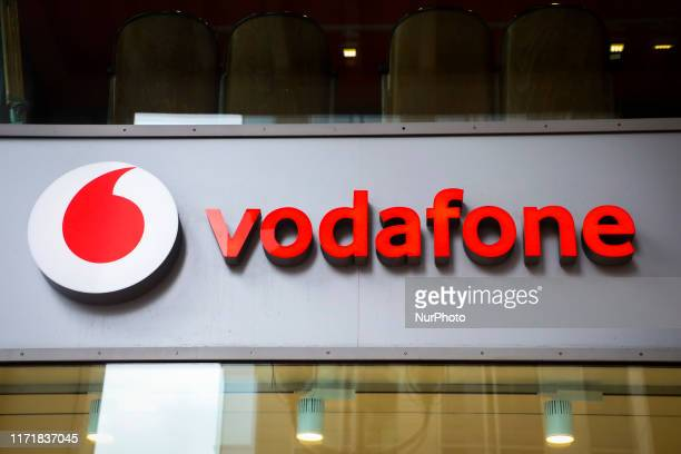 Vodafone logo is seen in Berlin, Germany on 25th September, 2019.