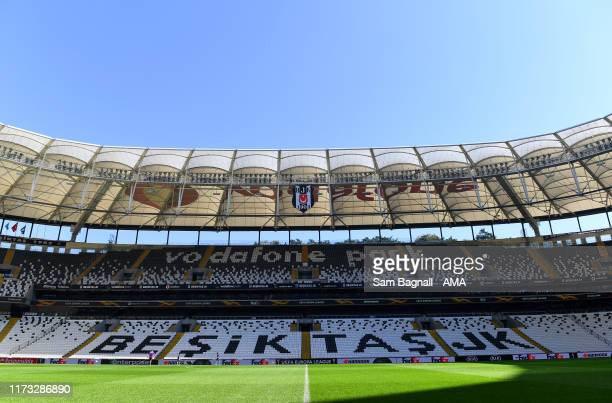 Vodafone Park the home stadium of Besiktas as players and staff of Wolverhampton Wanderers view the stadium ahead of their UEFA Europa League Group K...