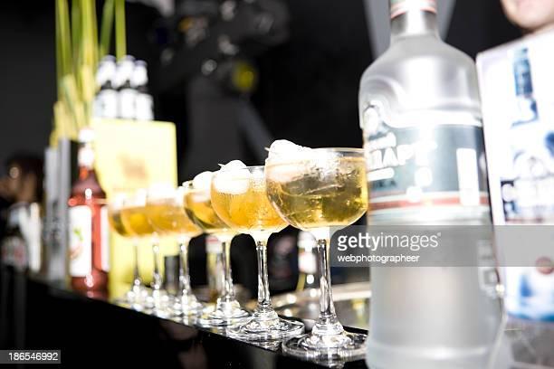 Vodka at the bar counter