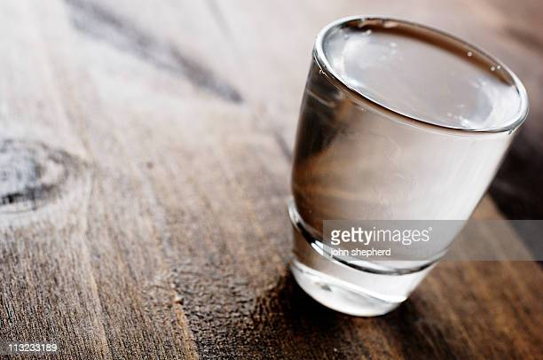 vodka shot glass back lit