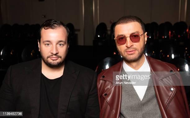 Vogue Arabia Editor In Chief Manuel Arnaut and media personality Bilal Al Arabi at Jordan Fashion Week 019 on March 30 2019 at the Kempinski Amman in...