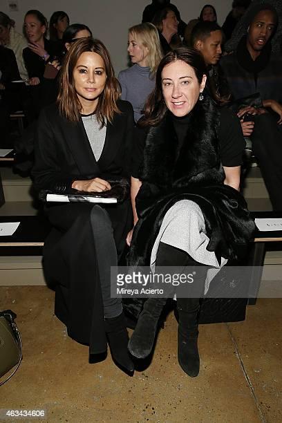 Vogue Australia senior fashion editor Christine Centenera and editorinchief Edwina McCann attend at Dion Lee runway show during MADE Fashion Week...