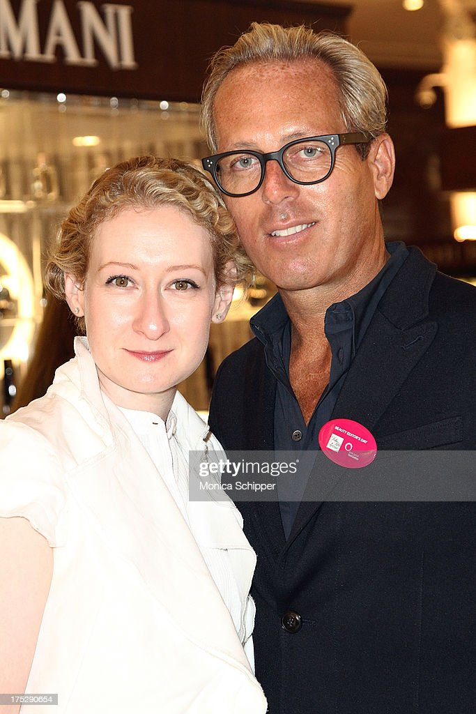 Vogue beauty director Sarah Brown and Tim Quinn attend Second Annual Beauty Editors Day At Saks Fifth Avenue on August 1, 2013 in New York City.