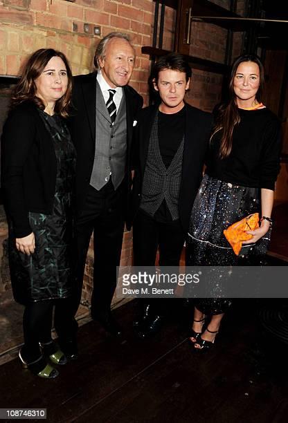 Vogue Editor Alexandra Shulman BFC Chairman Harold Tillman designer Christopher Kane and business partner Tammy Kane attend the British Fashion...