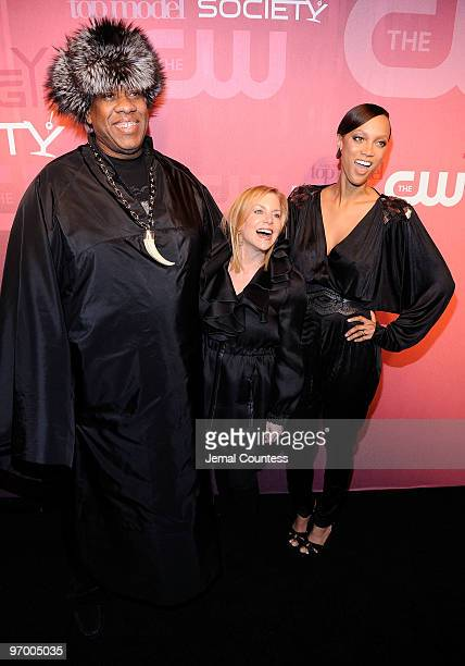 Vogue editor and fashion icon Andre Leon Tally President of the CW Dawn Ostroff and model and media personality Tyra Banks attend The CW It's A...