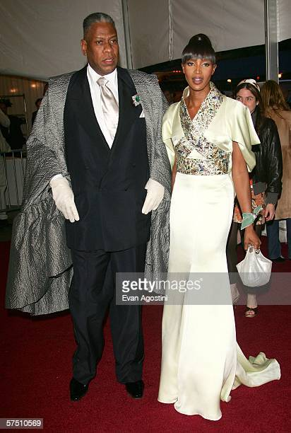 Vogue editor Andre Leon Talley and model Naomi Campbell attend the Metropolitan Museum of Art Costume Institute Benefit Gala Anglomania at the...