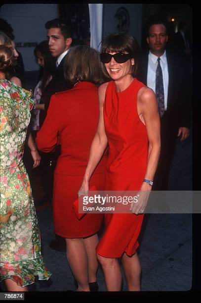 Vogue editor Anna Wintour arrives for a preauction reception at Christie's June 23 1997 in New York City The auction house was promoting the sale of...