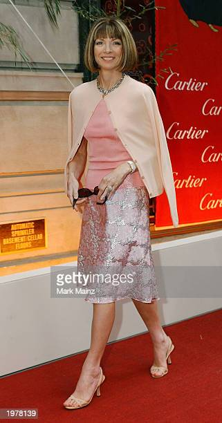 Vogue editor Anna Wintour attends Cartier's 'Le Baiser du Dragon' honoring New Yorkers for Children May 6 2003 at the Cartier Mansion in New York City