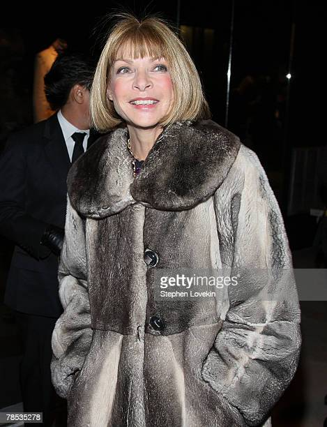 Vogue Editor Anna Wintour attends the Blogmode Addressing Fashion reception at The Metropolitan Museum of Art on December 17 2007 in New York City