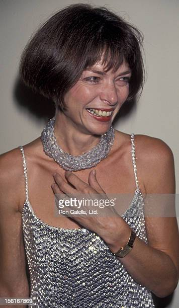 Vogue Editor Anna Wintour attends the book party for 'Holy Terror A Warhol Closeup' on August 8 1990 at the Factory in New York City