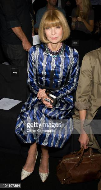 Vogue editor Anna Wintour during the Narciso Rodriguez Spring 2011 fashion show during Mercedes-Benz Fashion Week at The Theater at Lincoln Center on...
