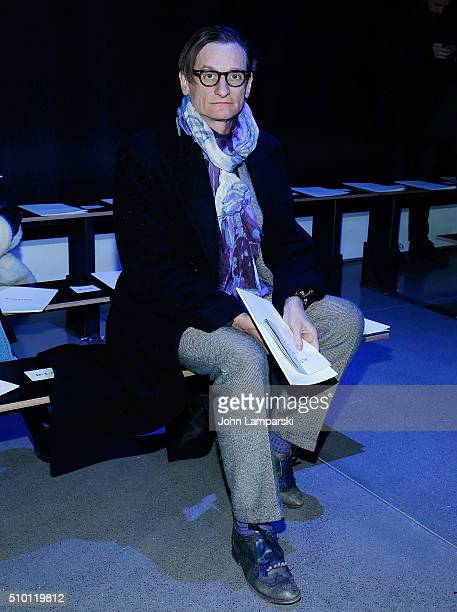 Vogue Editor Hamish Bowles attends Altuzarra show during the Fall 2016 New York Fashion Week on February 13 2016 in New York City