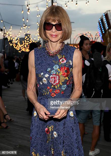 Vogue Editor in Chief and Conde Nast artistic director Anna Wintour attends the #TOMMYNOW Women's Fashion Show during New York Fashion Week at Pier...