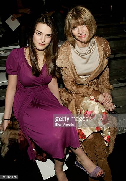 Vogue Editor in Chief Anna Wintour and her daughter Bee Shafer attend the Marc Jacobs Fall 2005 show during Olympus Fashion Week at The Armory...