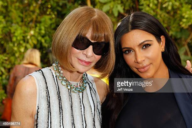 Vogue Editor in Chief Anna Wintour and television personality Kim Kardashian attend CFDA/Vogue Fashion Fund Show and Tea at Chateau Marmont on...