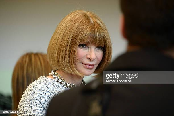 Vogue Editor in Chief Anna Wintour attends the Anna Wintour Costume Center Grand Opening at the Metropolitan Museum of Art on May 5 2014 in New York...