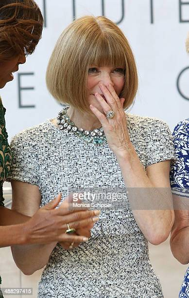 Vogue Editor in Chief Anna Wintour attends the Anna Wintour Costume Center Grand Opening at Metropolitan Museum of Art on May 5 2014 in New York City
