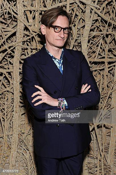 Vogue Editoratlarge Hamish Bowles attends Liu Wen Wendi Murdoch Laurent Claquin x Qeelin Host A Private Cocktail Party To Celebrate The Met Gala...