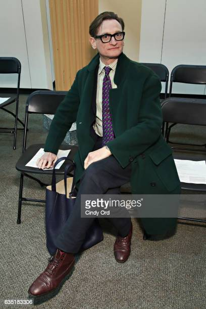 Vogue EditoratLarge Hamish Bowles attends the Eckhaus Latta fashion show during New York Fashion Week on February 13 2017 in New York City