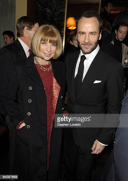 Vogue editorinchief Anna Wintour and designer/director Tom Ford attend the after party for A Single Man hosted by The Cinema Society and Bing at...