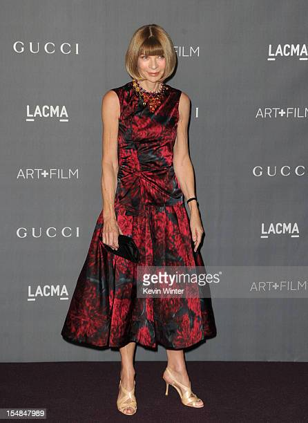 Vogue editorinchief Anna Wintour arrives at LACMA 2012 Art Film Gala at LACMA on October 27 2012 in Los Angeles California