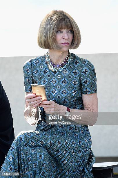 Vogue EditorinChief Anna Wintour attends the Kanye West Yeezy Season 4 fashion show on September 7 2016 in New York City