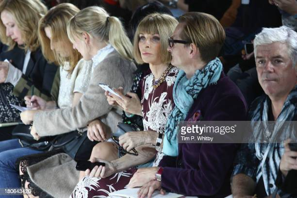 Vogue editorinchief Anna Wintour attends the Mary Katrantzou show during London Fashion Week SS14 at on September 15 2013 in London England