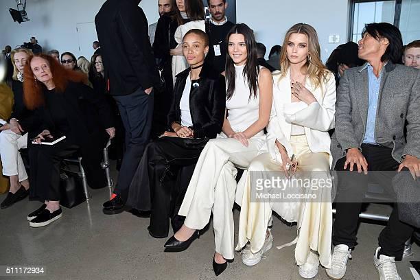 Vogue Fashion Director Tonne Goodman Former Vogue Creative Director Grace Coddington models Adwoa Aboah Kendall Jenner Abbey Lee Kershaw and guest...