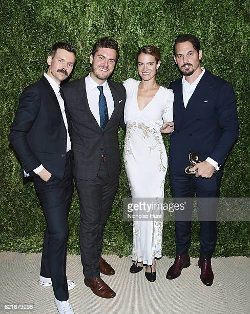 Vogue Fashion Fund nominees Adam Selman Stirling Barrett Laura Vassar and Kristopher Brock attend 13th Annual CFDA/Vogue Fashion Fund Awards at...