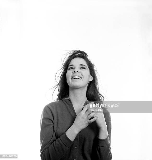 Vogue fashion model and future actress Ali MacGraw poses for a portrait in New York City New York