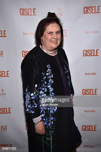 Vogue International Editor Suzy Menkes attends the Gisele Bundchen Spring Fling book launch on April 30 2016 in New York City