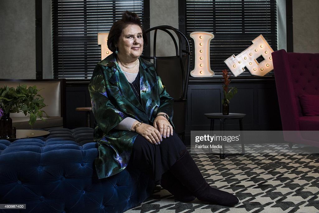 Vogue International Editor Suzy Menkes Portrait Shoot