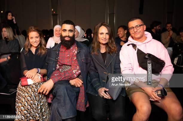 Vogue Italia Talents Editor Serena Castrignano Fashion stylist and icon Majid Karrouch Editor In Chief of Passion Magazine Suzan Sabet and NOW...