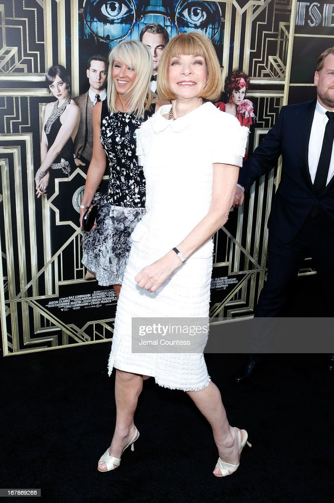 Vogue Magazine Editor and Cheif Anna Wintour attends the 'The Great Gatsby' world premiere at Avery Fisher Hall at Lincoln Center for the Performing Arts on May 1, 2013 in New York City.