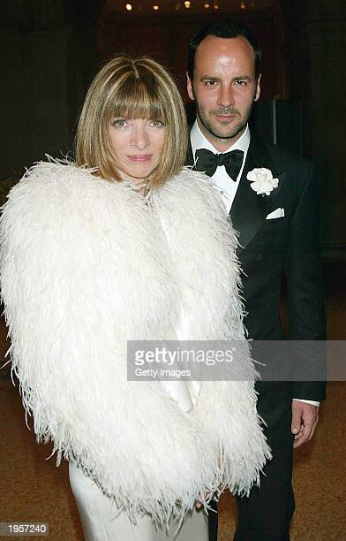 Vogue Magazine editor Anna Wintour and fashion designer Tom Ford attend the Costume Institute Benefit Gala sponsored by Gucci at The Metropolitan...