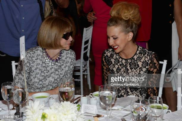 Vogue magazine editorinchief Anna Wintour and actress Nina Arianda attend The Couture Council of The Museum at the Fashion Institute of Technology...