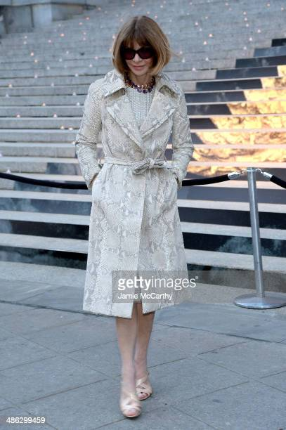 Vogue Magazine editor-in-chief Anna Wintour attends the Vanity Fair Party during the 2014 Tribeca Film Festival at the State Supreme Courthouse on...
