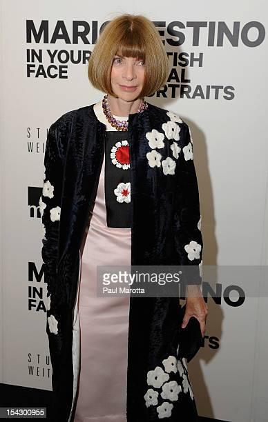 Vogue Magazine EditorinChief Anne Wintour attends Museum Of Fine Arts Mario Testino Exhibit Sponosred By Swarovski at Boston Museum Of Fine Arts on...