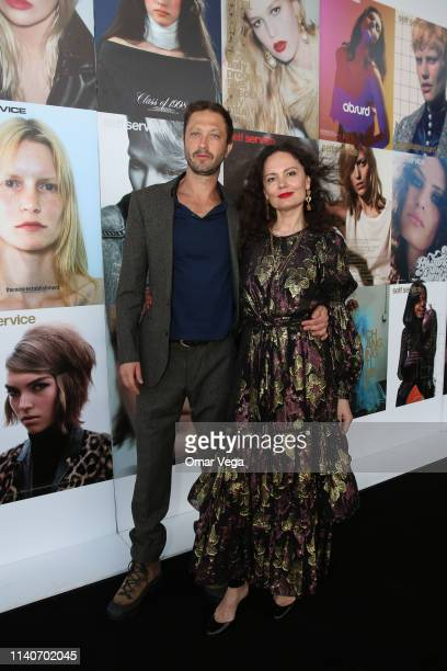 Vogue Photographer Yelena Yemchuk and Actor Ebon MossBachrach attend Dallas Contemporary Spring Gala on April 5 2019 in Dallas Texas