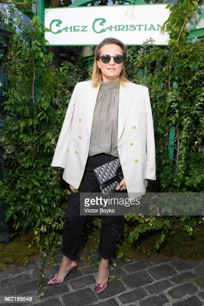 Vogue Russia editorinchief Masha Fedorova attends the Welcome Dinner of the Christian Dior Couture S/S 2019 Cruise Collection on May 24 2018 in Paris...
