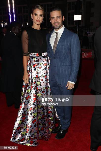 Vogue Williams and Spencer Matthews arrive on the red carpet of Pride of Britain 2019 at Grosvenor House Hotel on October 28 2019 in London England